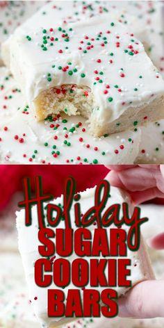 Christmas Sugar Cookies, Christmas Snacks, Christmas Cooking, Gingerbread Cookies, Christmas Christmas, Holiday Baking Ideas Christmas, Baked Goods For Christmas Gifts, Christmas Shortbread Cookies, Holiday Bars