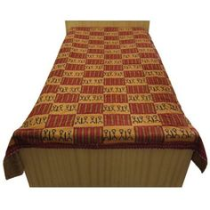 Amazon.com: Bed Cover Bedspreads Twin Size Hand Block Print Embroidery: Home & Kitchen