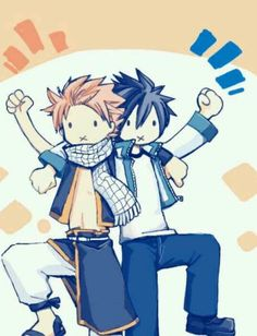 Natsu and Gray - Fairy Tail.