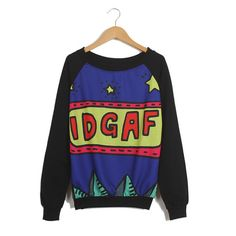 Long Sleeves Scoop Neck Cartoon Letters And Stars Pattern Preppy Style Loose-Fitting Casual Women's SweaterVintage T-shirts | RoseGal.com