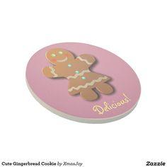 Cute Gingerbread Cookie Beverage Coasters