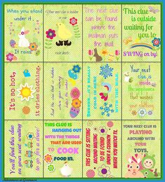 Free Easter egg hunt clues printable!