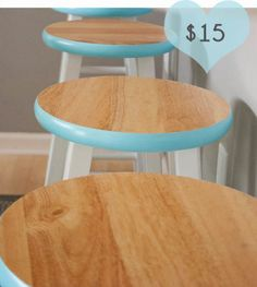 When this blogger spotted these wooden (albeit boring) stools at Target, she saw serious potential. Some thoughtful white and blue paint and she's got a series of seats that add a spark of fun to her kitchen. Click through for a tutorial and more genius DIY Target hacks.