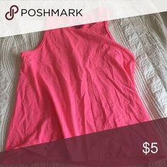 Pink sleeveless tee Comfortable neon pink tank top Tops Tank Tops
