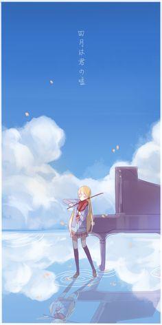 Miyazono Kaori   Shigatsu wa kimi no uso   Your lie in April   Fanart   Art