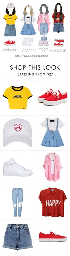 """NCT 127"" by vieen ❤ liked on Polyvore featuring RtA, NIKE, Chicnova Fashion, Topshop, Wildfox, River Island and Vans"