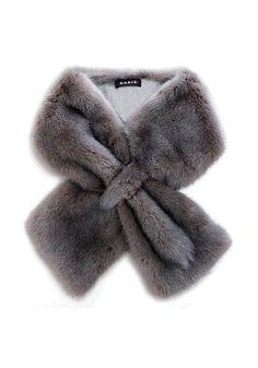 Designer Clothes, Shoes & Bags for Women Faux Fur Vests, Faux Fur Collar, Sewing Crafts, Sewing Projects, Fur Accessories, Fabulous Furs, Fur Stole, Vintage Fur, Fur Fashion