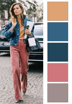 Colour Combinations Fashion, Color Combinations For Clothes, Color Blocking Outfits, Fashion Colours, Colorful Fashion, Color Combos, Color Matching Clothes, Matching Outfits, Pantone