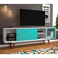 Retro Home Decor Bedroom Furniture Design, Home Decor Furniture, Pallet Furniture, Kitchen Cabinet Doors, Tv Cabinets, Industrial Tv Unit, Design Retro, Tv Cabinet Design, Rack Tv