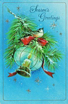 Farmhouse Vintage PRINT 8x10 Cardinal Red Bird Merry Christmas Pine Cones