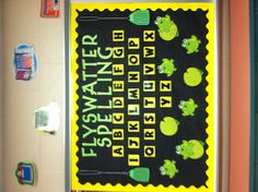 Fly swatter spelling interactive bulletin board. Maybe a spelling activity/ game instead. Write on the board