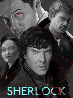 """By mattdemino:    Sherlock fan art.        Great likenesses of each. The red lines definitely gives it a sinister feel. Makes me think of Moriarty as a spider and at the center of a web...""""and he knows precisely how each and every single one of them dances."""" Oooh, double-meaning, perhaps?"""