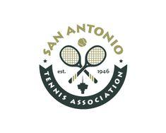 SAN ANTONIO TENNIS ASSOCIATION Logo Design   More logos http://blog.logoswish.com/category/logo-inspiration-gallery/ #logo #design #inspiration