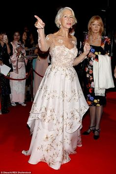 Leading lady: The acting icon turned heads and had the cameras snapping on her red carpet ...