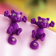 New Hot Fashion Cute Kitten Ear Jewelry Cat Stud Earrings For Women Mu – Gifts Collectibles More
