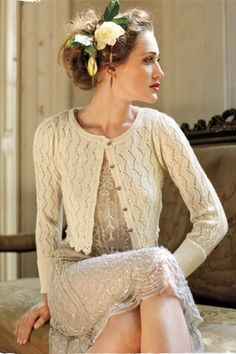 Romantic hair. a sweater?? I guess for late in the evening if its outdoors