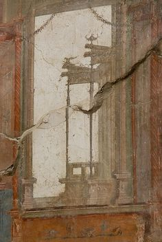 Herculaneum, Italy - The ruins of Herculaneum. Similar, but better preserved than Pompeii. This is one of the best preserved sections showing the amazing detail and colour that decorated Roman properties.