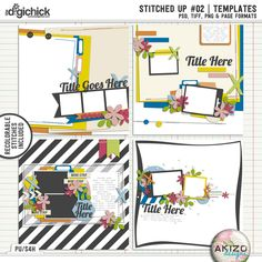 Stitched Up #02 | Templates by Akizo Designs - for Digital Scrapbooking Page