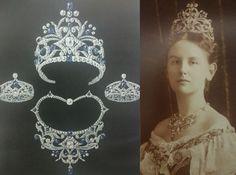Sapphire parure, Queen Wilhelmina of the Netherlands, 1901