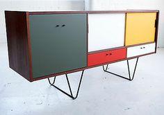 vintage teak sideboard with hairpin legs