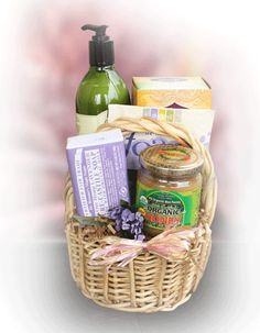 Gluten free relaxation valentines day gift basket for her relaxation basket healthy sentiments negle Gallery