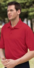 Promotional Products Ideas That Work: Men's eperformancetm jacquard windowpane polo. Get yours at www.luscangroup.com