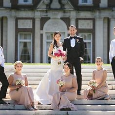 Want more? Check out more styles at mghairandmakeup.com!  -  We love our #brides #bridalparty #weddingparty 💗 perfectly captured by @einphotography #bridalhair #bridalmakeup by our Valbona and #bridalpartyhair #bridalpartymakeup by our Rachel #liweddings #lihairstylist #limakeupartist #weddingday #weddingweekend #deseverskymansion    #Regram via @BkvNM8SnF29 Asian Hair And Makeup, Hair Makeup, Bridal Make Up, Bridal Hair, Wedding Weekend, Wedding Day, Anything Is Possible, Bridesmaid Dresses, Wedding Dresses