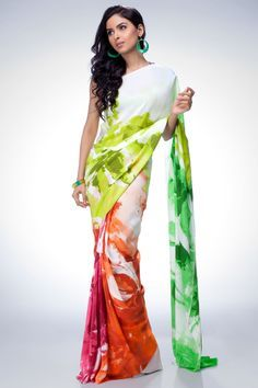 Feel the ambience of style in digital printed georgette saree. The tincture of brisk colors specially on damn and pallu makes it quite endearing.