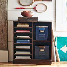 Stack Me Up Magazine Bookcase, Antique White