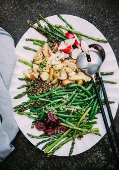 Grilled Asparagus & French Lentil Nicoise Salad