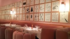 Pink Main Dining room at Sketch in London-place I want to travel to someday.