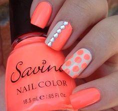 .cute orange nails