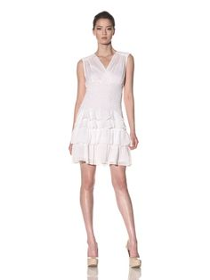 90% OFF Nanette Lepore Women\'s Gauze Saloon Dress (White)