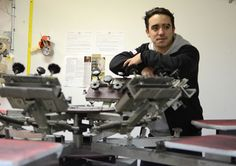 Chad Campagna inside the business he co-owns with OSU alumnus Austin Pence.  Credit: Sallee Ann Ruibal / Lantern reporter