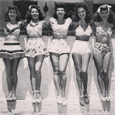 1940s Bathing Suits, Swimsuits and Swimwear -  1940s Pinup Swimsuits  #swimsuit  #bathingsuit  #1940sfashion