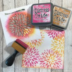 Its a lovely sunny day here in Essex today (cold, but sunny!)... I bought the Concord & 9th 'Dahlia Turnabout Stamp Set' and matching ...