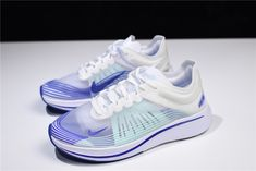 "7d52176aa41c5 WMNS Nike Zoom Fly SP ""Royal"" White Indigo Burst AJ8229-101 Free Shipping"