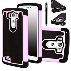 E LV Hard Plastic with Soft Silicon Dual Layer Armor Defender Case for LG G3…