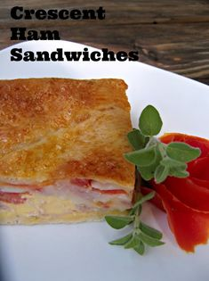 What's For Supper?: Cresent Ham Sandwiches