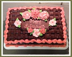 Chocolate basket weave sheet cake :)