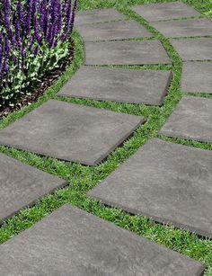 pasarela de lajas pavimentos para el jardn adoquines de concreto caucho reciclado mam y pap ideas del patio trasero ideas jardn
