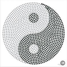 Yin Yang Symbol Spirituality Rhinestone Diamante Transfer Iron On Hotfix Motif