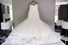 Mark Zunino ruched mermaid gown from Kleinfeld Real Wedding | Kleinfeld Bridal