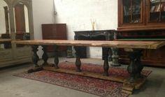 Table industrielle en sapin