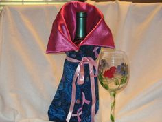 Breast cancer Wine bottle Bag / Holder / Cozy by JosieeDesigns, $12.00