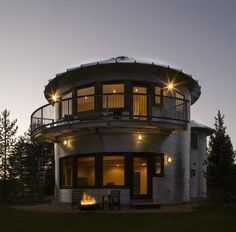 Earl's Montesilo House on the Provo River is not overtly green — but the home has received recognition for it's unique design.  Located in Woodland, Utah, next to the Provo River, Earl's Montesilo House was built with a south orientation to capture solar heat gain during the winter.