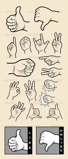 Hand Signs 1 Drawing Vector #GraphicRiver Artistic hand symbol drawing. Use for web or social networking design. Easy to use, each item is a group. Includes EPS 8 (vector file) and JPEG (high resolution file) Alternative keywords : thumbs up, web, website, social media, icon, drawn, hand drawn, hands, man, male, pack, set, bundle, clip art, vintage, divide, outline, freehand, contour, black, wallpaper, background, sticker, poster design, hand signs, graphic, image, imagine, imagination…