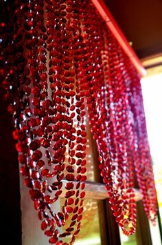 Beaded Swag Valance Curtains