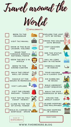 Travel Checklist, Packing Tips For Travel, Travel List, Travel Goals, Travel Guide, Travel Mugs, Travel Hacks, Coffee Travel, Travel Bucket Lists