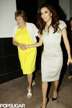 Eva Longoria and her mom made their way to dinner at Beso in Hollywood to celebrate Eva's graduation.